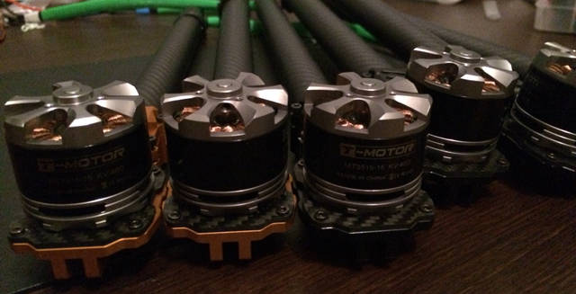 All 6 motors mounted